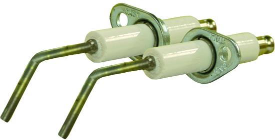 Electrode haute tension coudée avec support 'COMET'