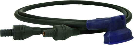 Connecteur double avec câble HT