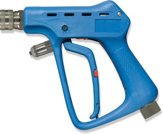 Pistolet professionnel avec retard à la fermeture de gachette. INOX, max. 60 bar, 100l/mn