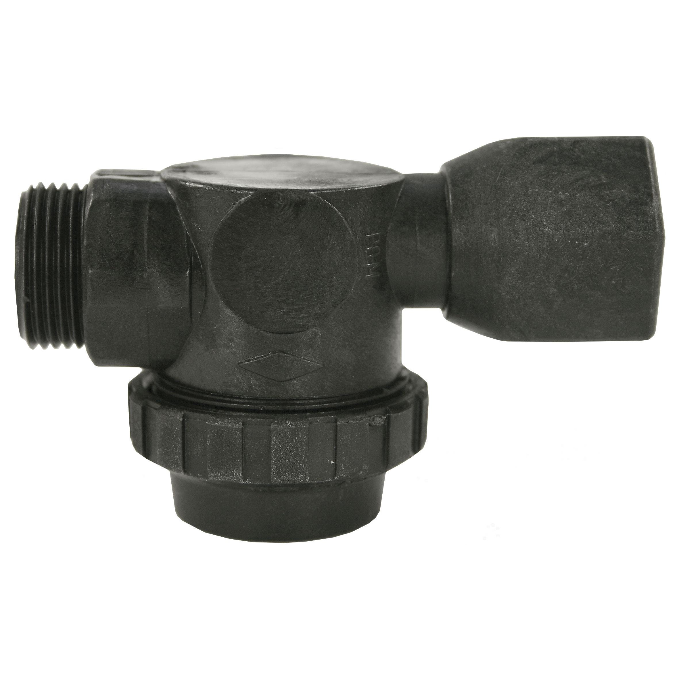 Filtre d'alimentation d'eau complet avec élément filtrant 400 micron. Max. 10 bar / 60 l/min / 60 °C