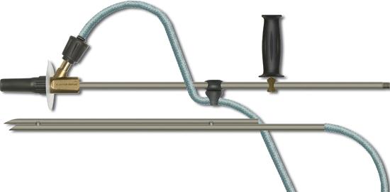 Kit de sablage tube 600 mm tuyau d'aspiration 5m, max. 200 bar
