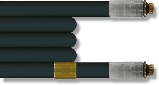 Flex. de canal. 20m, tresse métallique 300 bar. (livré sans buse)