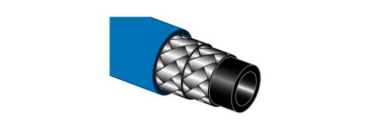 Flexible haute pression au mètre 2ST bleu