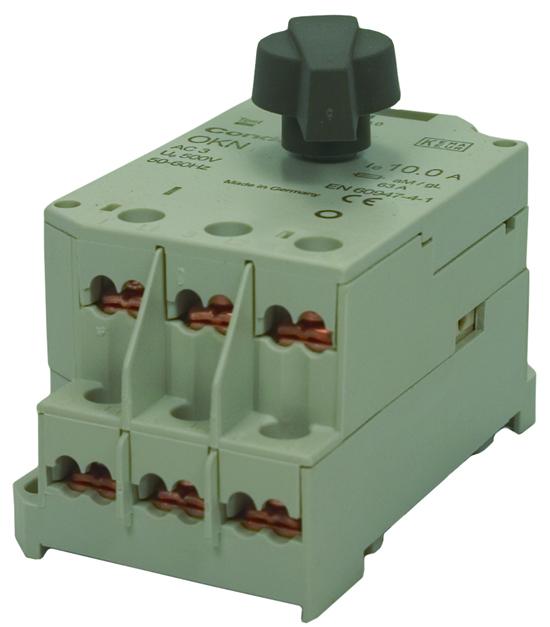 Disjoncteur moteur OKN, plage de réglage de 10 à 16 Ampères