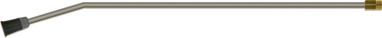 Tube de lance acier zingué, livrée sans buse, 800mm