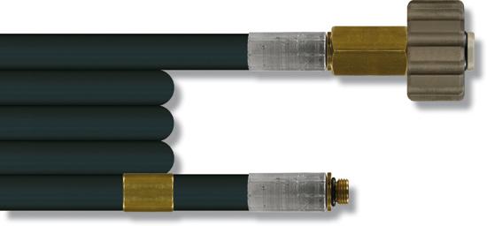 Furet haute pression 15 mètres, 200 bar 20°C, tresse synthétique DN5 M21F-1/8''M