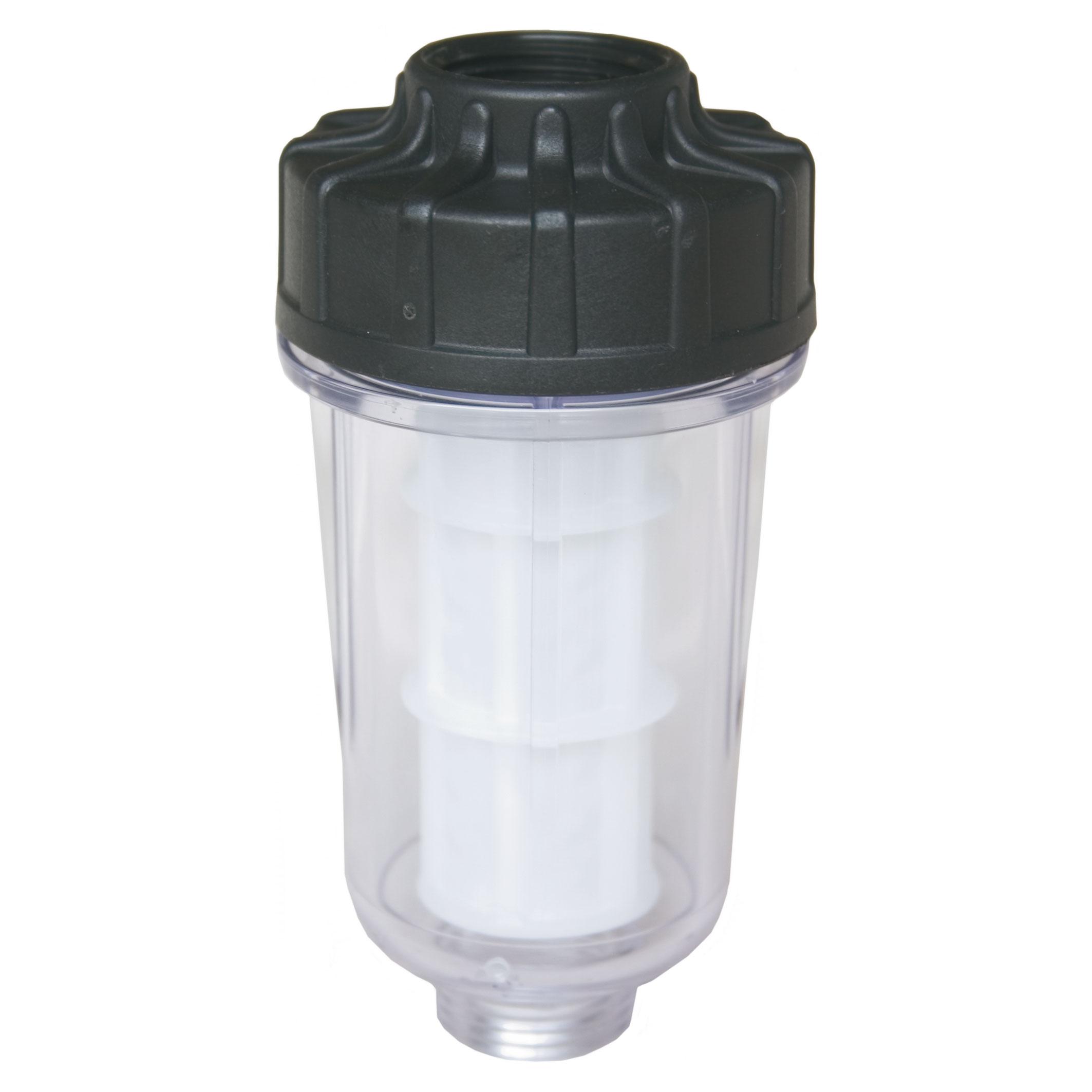 Filtre d'alimentation d'eau complet avec élément filtrant PVC. 60 microns. Max. 10 bar - 50 l/min - 50 °C