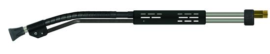 Lance orientable, inox avec demi-coquille ST-9