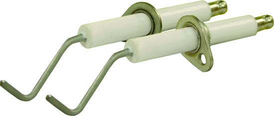 Electrode haute tension coudée avec support 'GHIBLI'