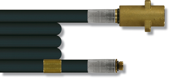 Furet haute pression 20 mètres, 300 bar 100°C, tresse métallique  DN6 K-1/8''