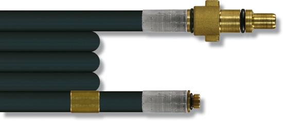 Furet haute pression 15 mètres, 200 bar 20°C, tresse synthétique DN5 KW-1/8''M